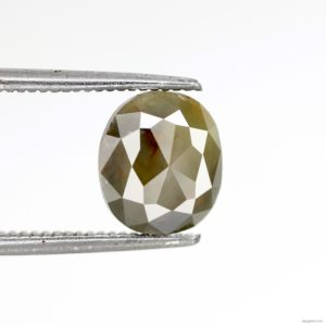 oval salt and pepper diamond