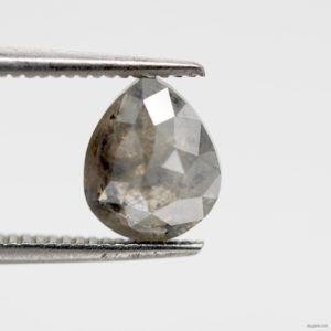Pear shape Salt and pepper diamond