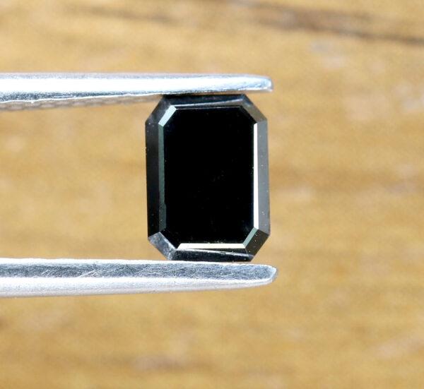 black diamond emerald cut
