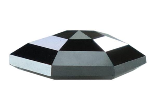 hexagon cut black diamond