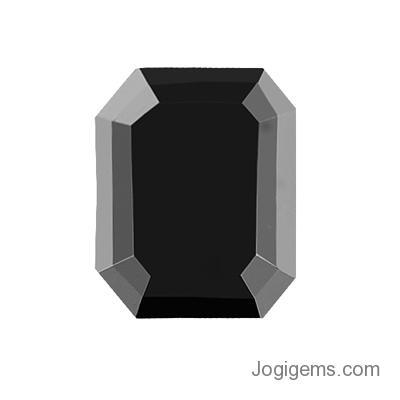 emerald cut black diamond