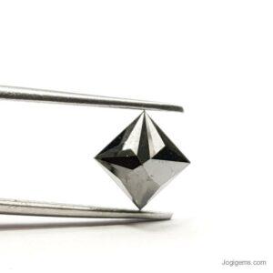 1 carat black princess cut diamond