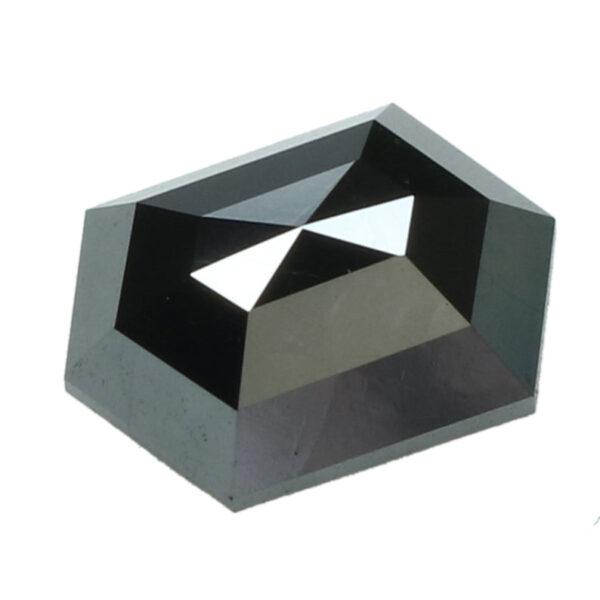 black diamond hexagon cut