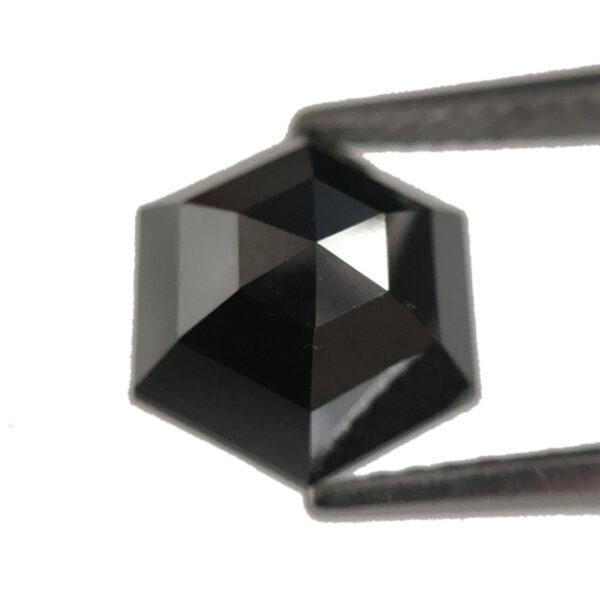 black diamond hexagon shape