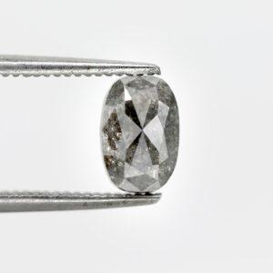 Oval salt and pepper diamonds