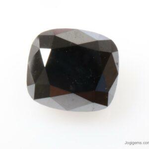 cushion cut black diamond