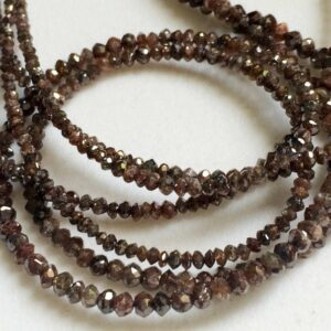 brown faceted diamond beads