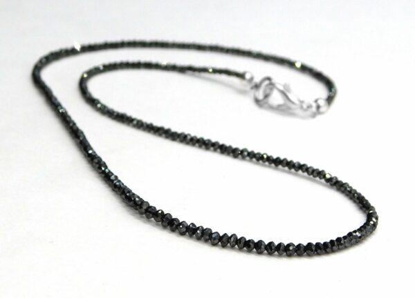 Faceted Black Diamond Beads