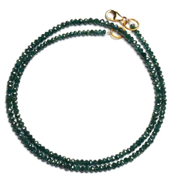 Faceted Green Diamond Beads