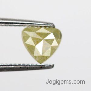 Heart salt and pepper diamonds