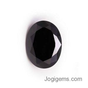 oval cut black diamond