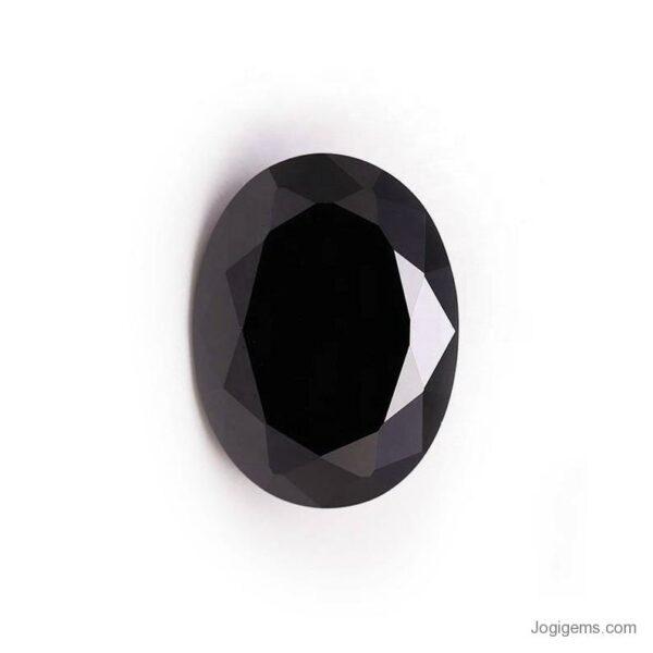 oval cut black diamond