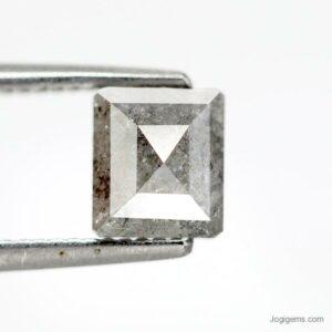 Square Cut Salt and pepper diamonds