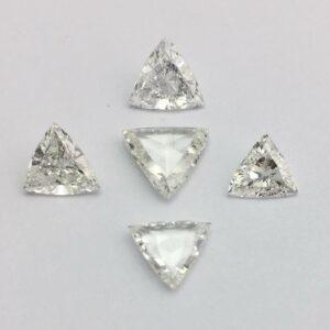 Triangle Shape rose cut diamond