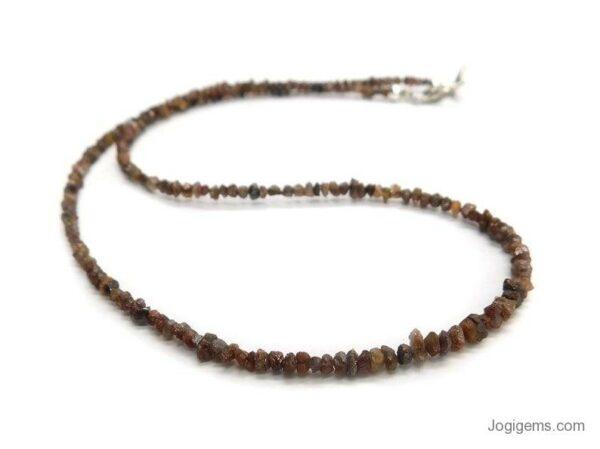 uncut brown diamond beads