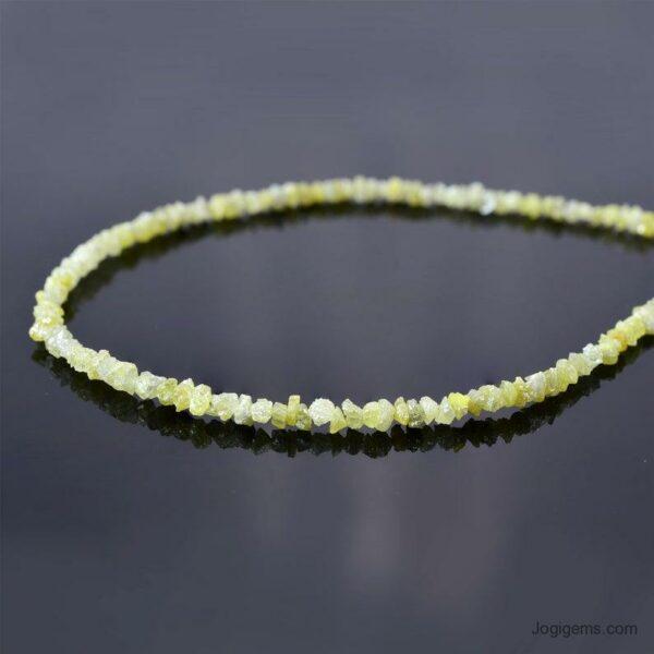 yellow diamond beads