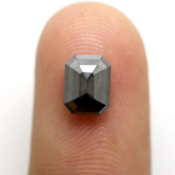 Emerald Black Diamond For Engagement Rings
