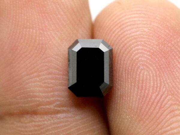Emerald Black Diamond in 2 Carats