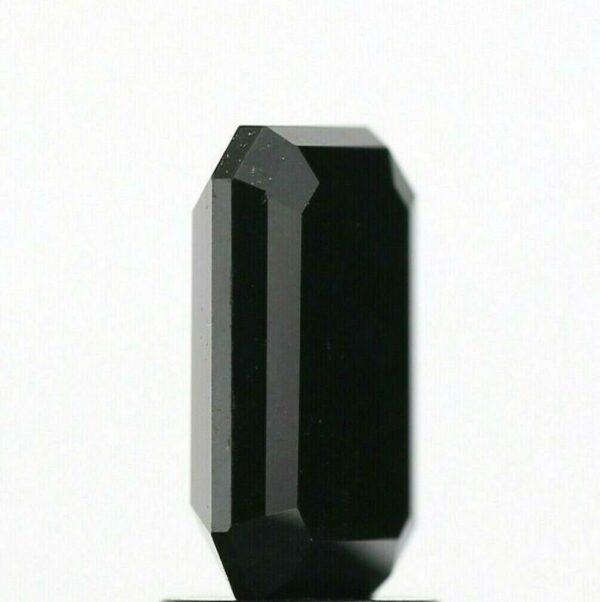 emerald shape black diamond