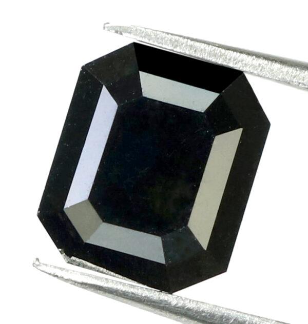2.30 Carat black diamond emerald shape
