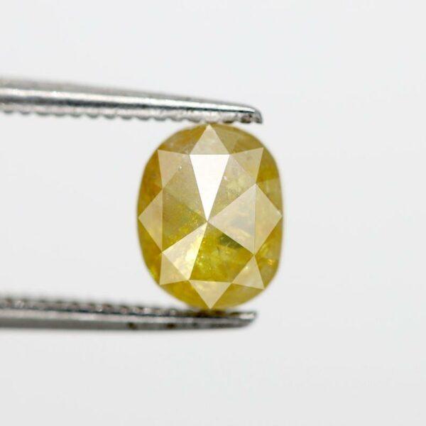 Oval Cut Yellow Diamond