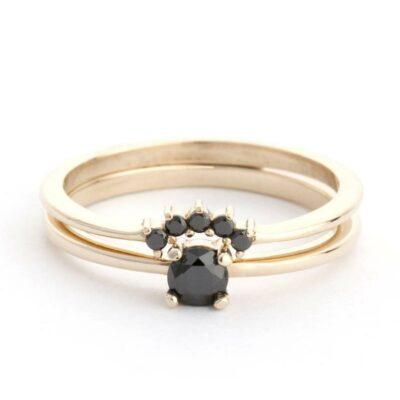 Petite Black Diamond Ring