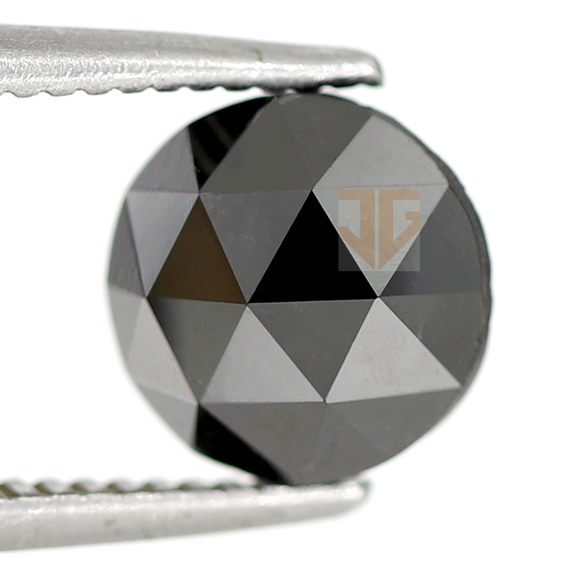 SOLD 5 MM Natural Black Diamond Round Rose Cut AAA 2 pieces Loose Diamond
