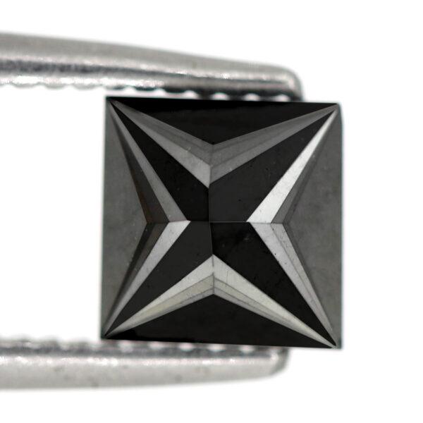 1 carat princess cut black diamond