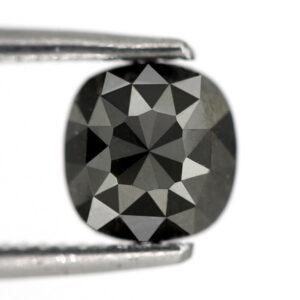 1 carat cushion cut black diamond