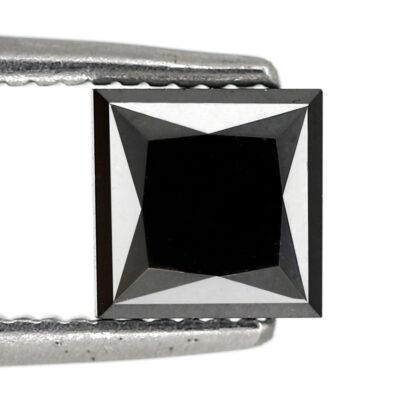 1 carat black diamond princess cut