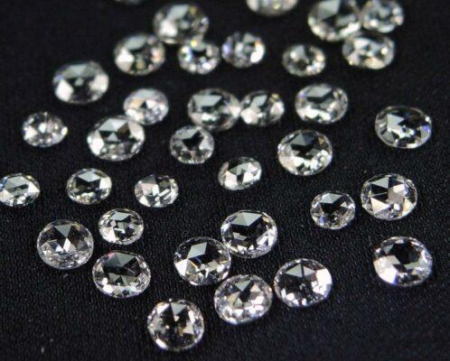 loose rose cut diamonds