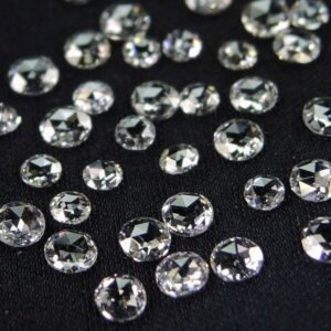 Round Rose Cut Diamonds