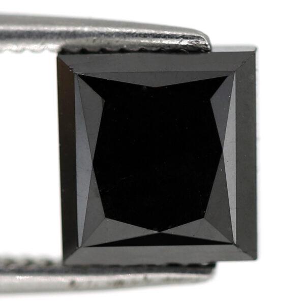 square rose cut black diamond