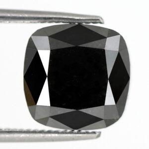 Cushion Shape Black Diamond