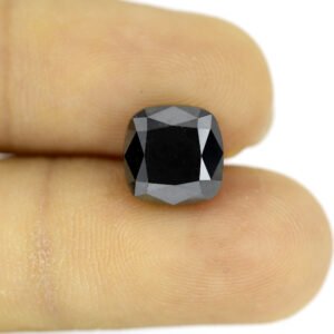 Big Cushion Shape Black Diamond