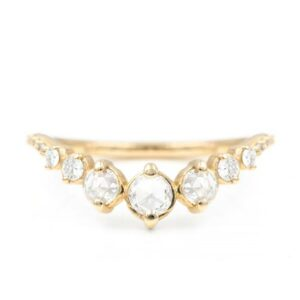 rose cut diamond band for engagement ring online