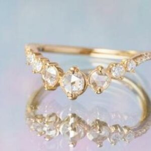 rose cut diamond band at best price