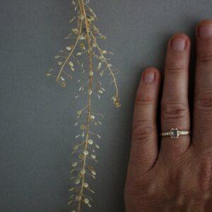 six prong rose cut diamond ring