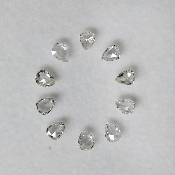 pear shape rose cut diamonds
