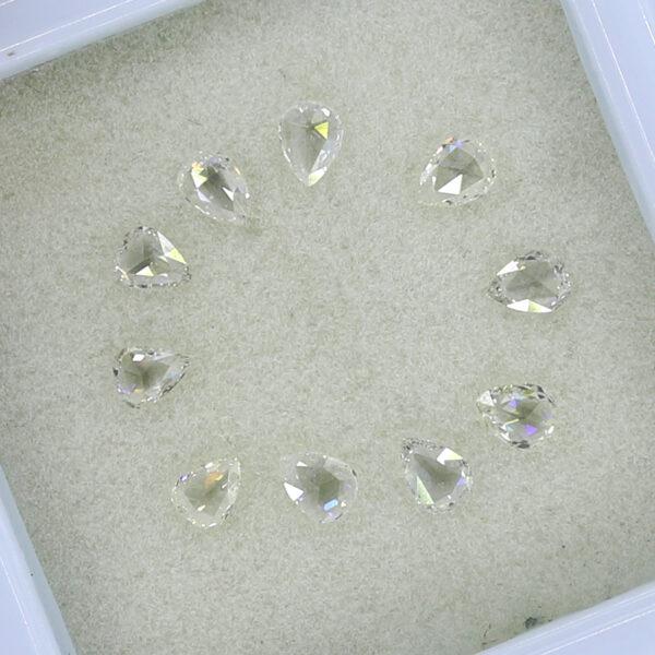 pear shape rose cut diamonds for sale