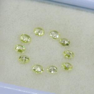 loose yellow rose cut diamonds