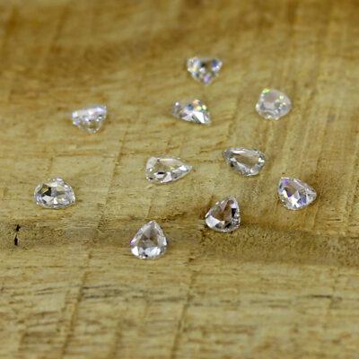 natural pear shape rose cut diamonds for sale