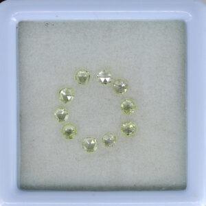 yellow rose cut diamonds