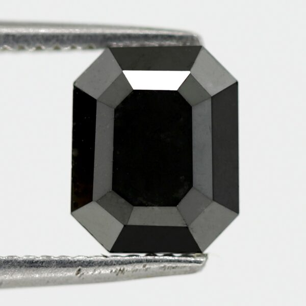 emerald cut black diamonds for sale
