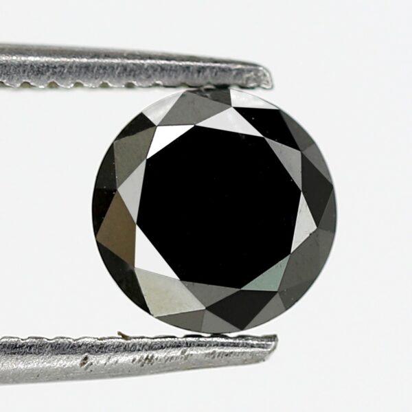 round brilliant cut black diamond