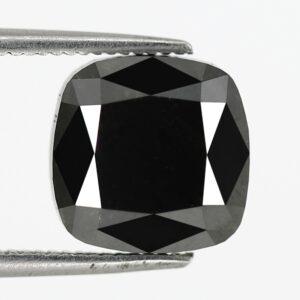 5 carat cushion cut black diamond