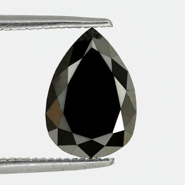 Loose pear shape black diamond