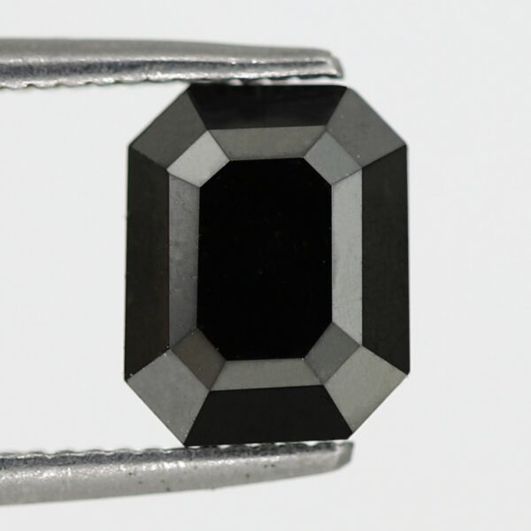 emerald shaped black diamond