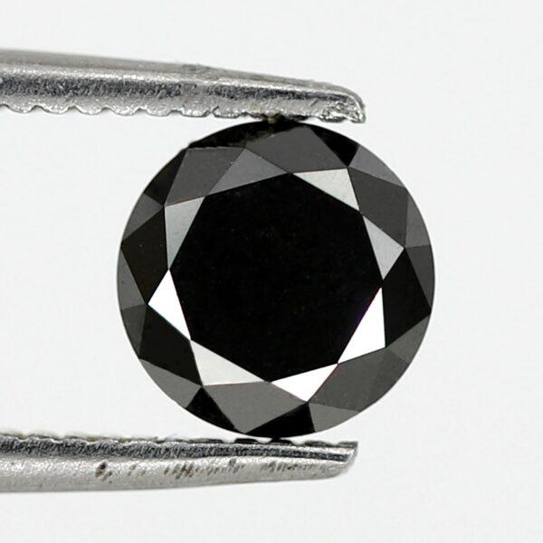 black diamond round brilliant cut