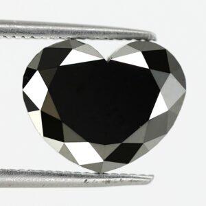 Huge heart shape black diamond